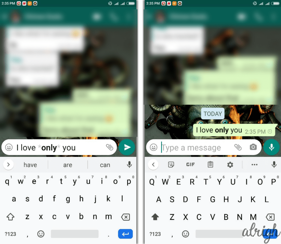 How to Make Text Bold in WhatsApp