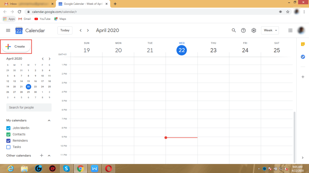 Create a Hangouts Event/Meeting