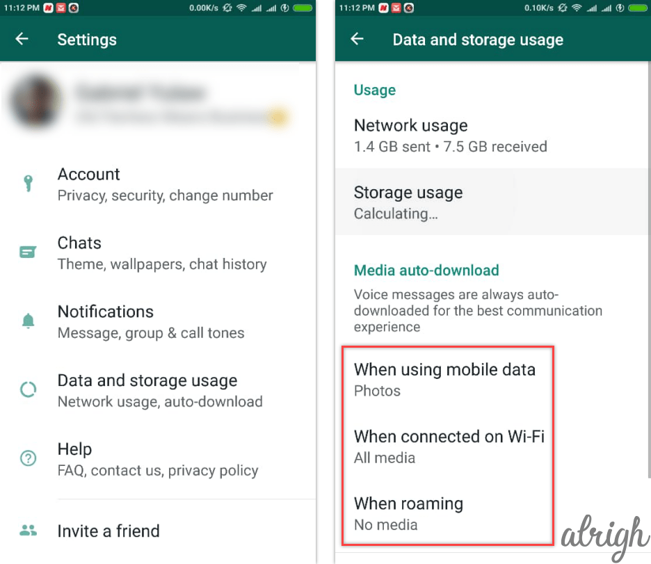 how to save data in whatsapp