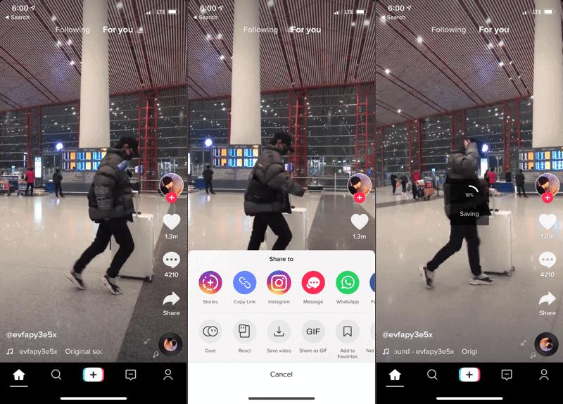Download Tik Tok Video on iPhone