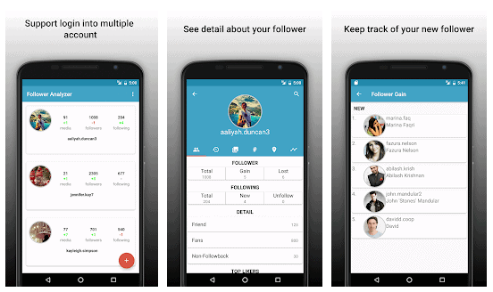 Follower Analyzer for Instagram to detect Instagram Stalkers