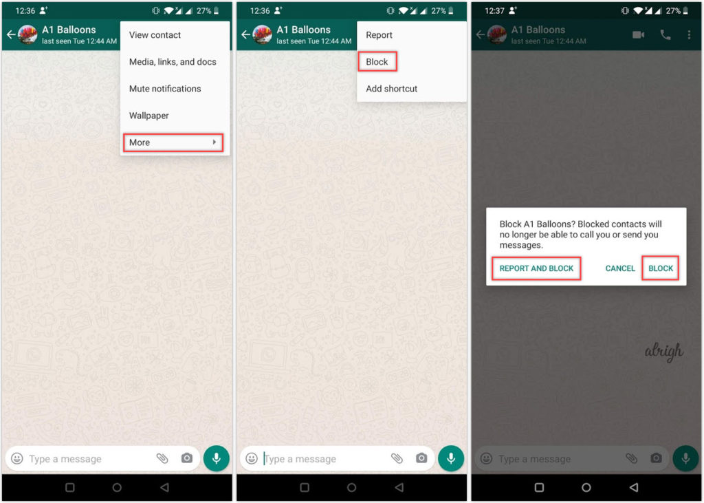 How to block a WhatsApp contact