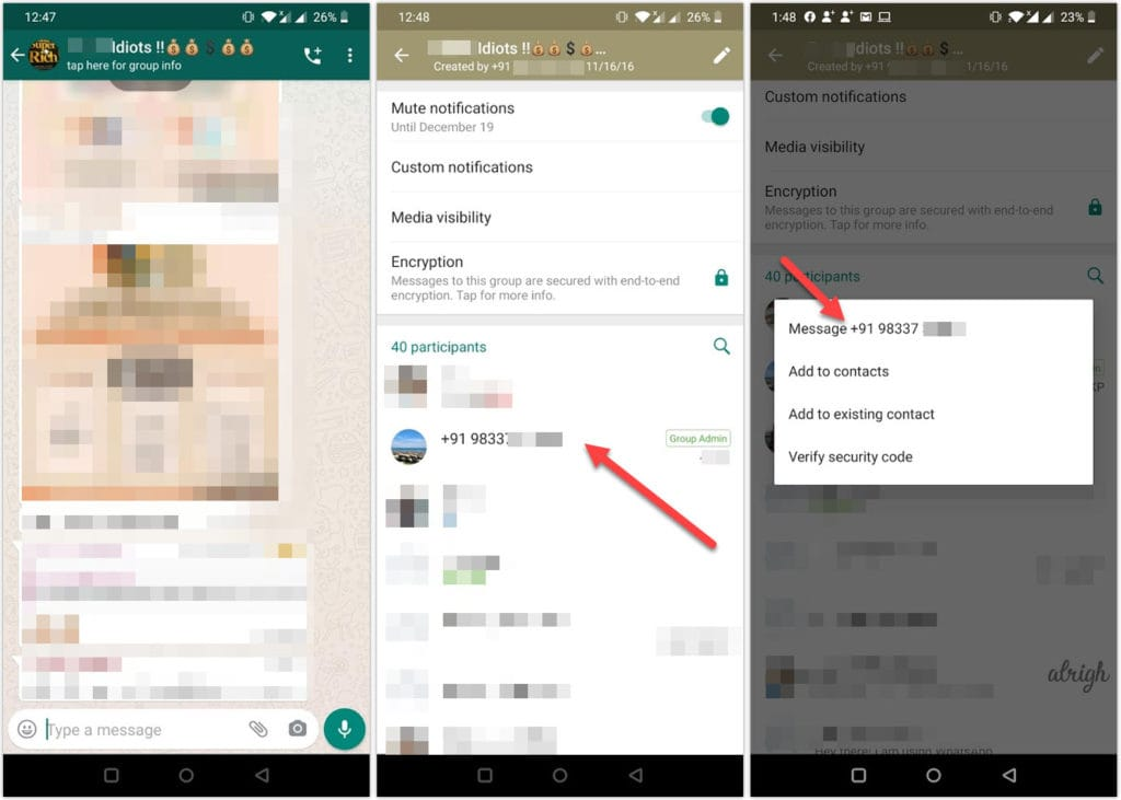 Report a WhatsApp group admin