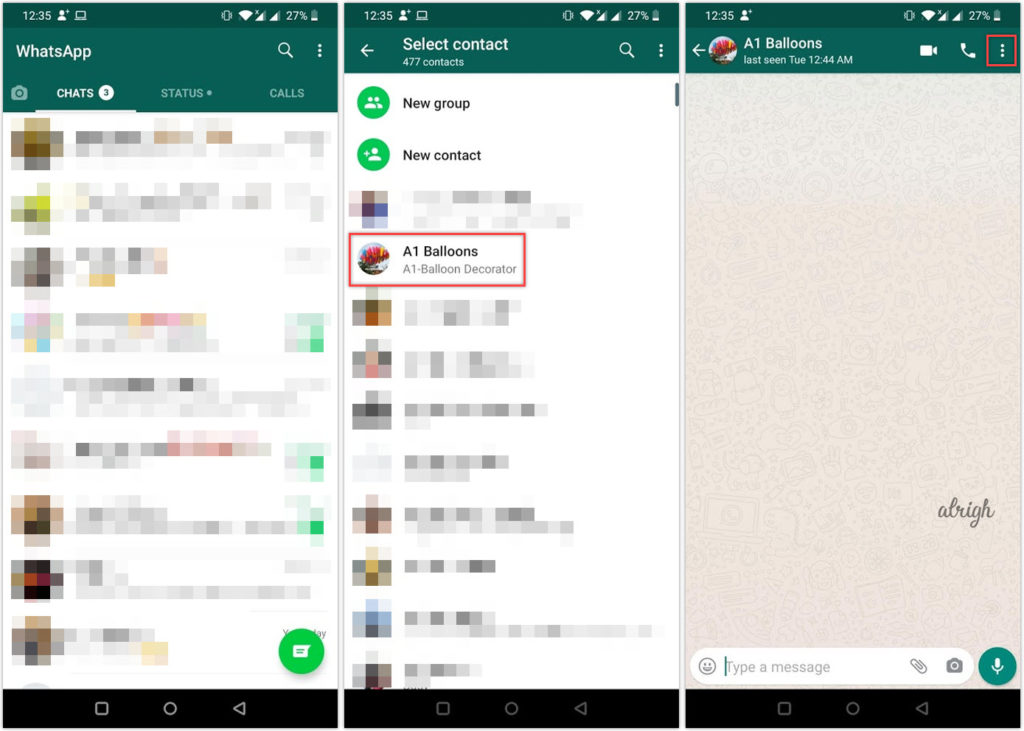 Report spam on WhatsApp for Android
