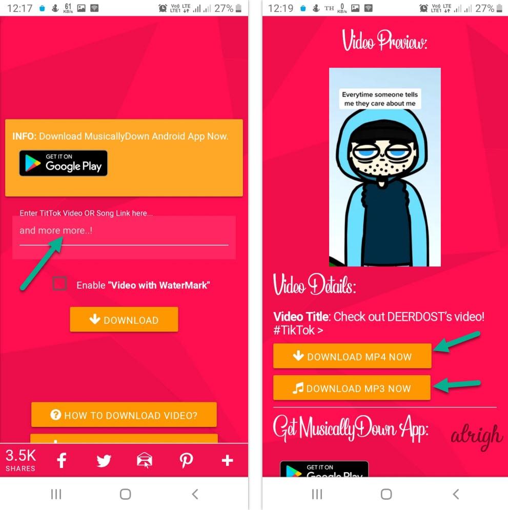 Tik Tok Video Download Without Watermark
