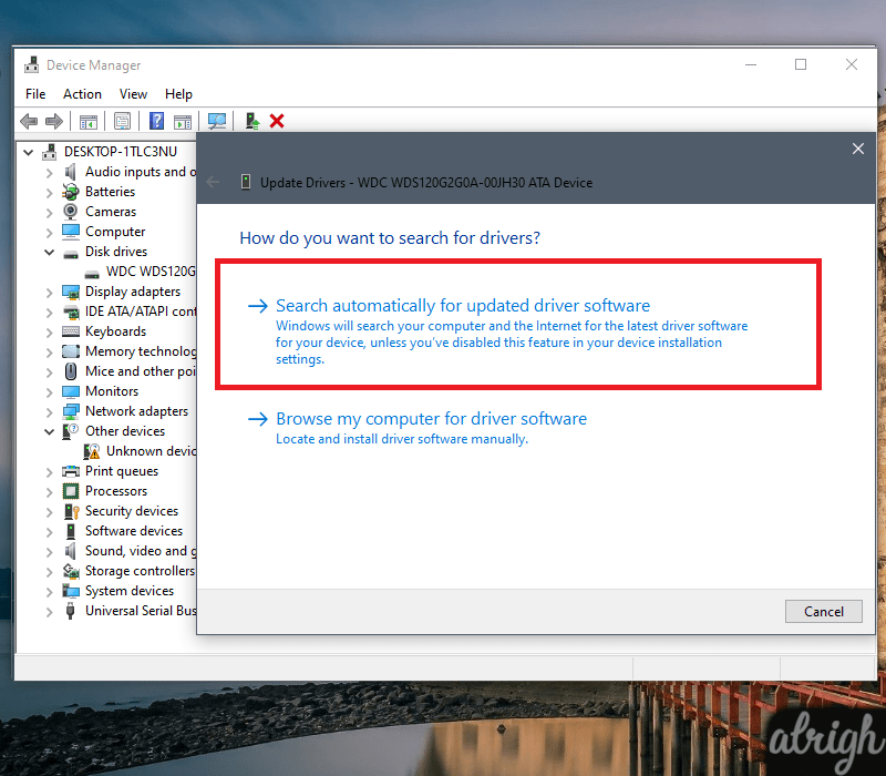 Upgrade your device drivers
