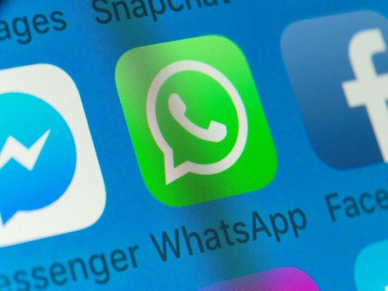 WhatsApp stock image