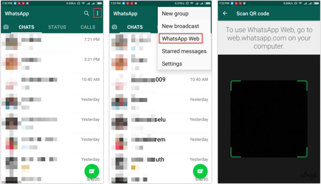 How to Use WhatsApp Web with Android Device