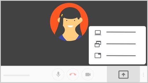 Share screen on Google Meet