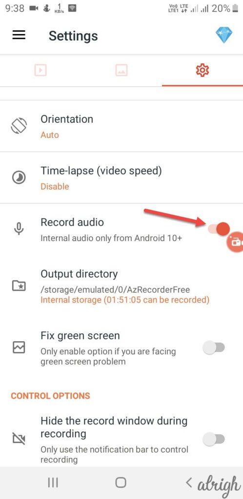 AZ Screen Recorder Step 1