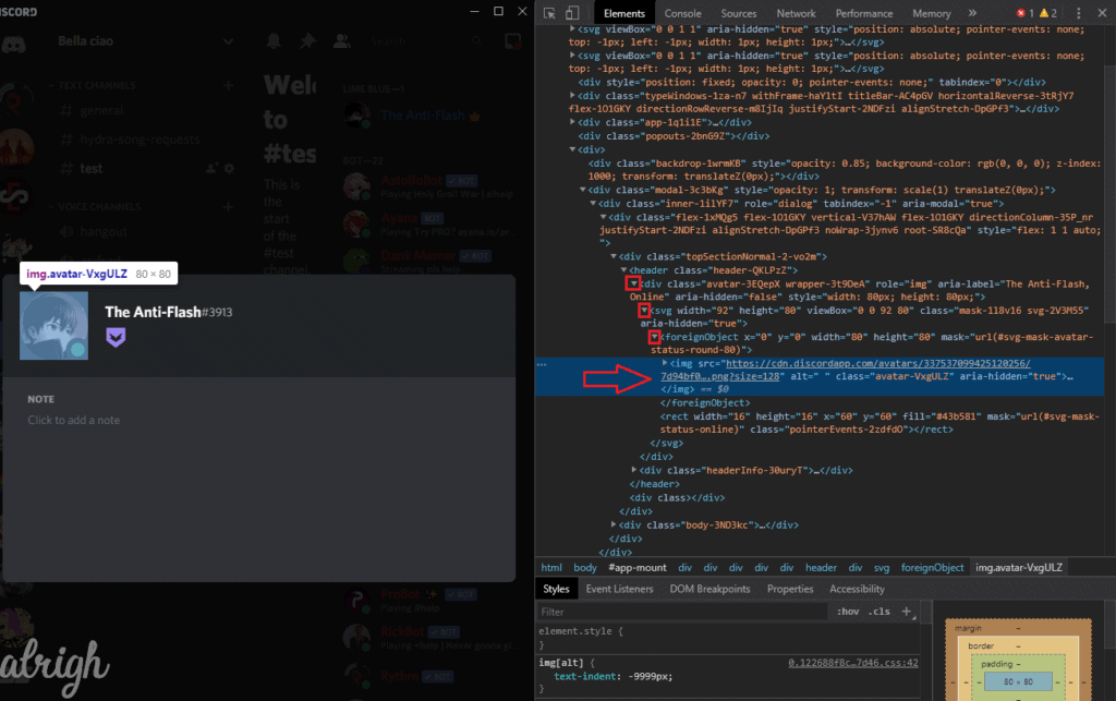 Download Discord Profile Picture with Inspect Element 3