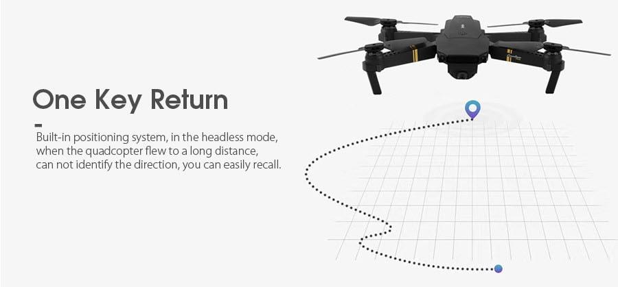 Eachine E58 Drone One Key Return Function