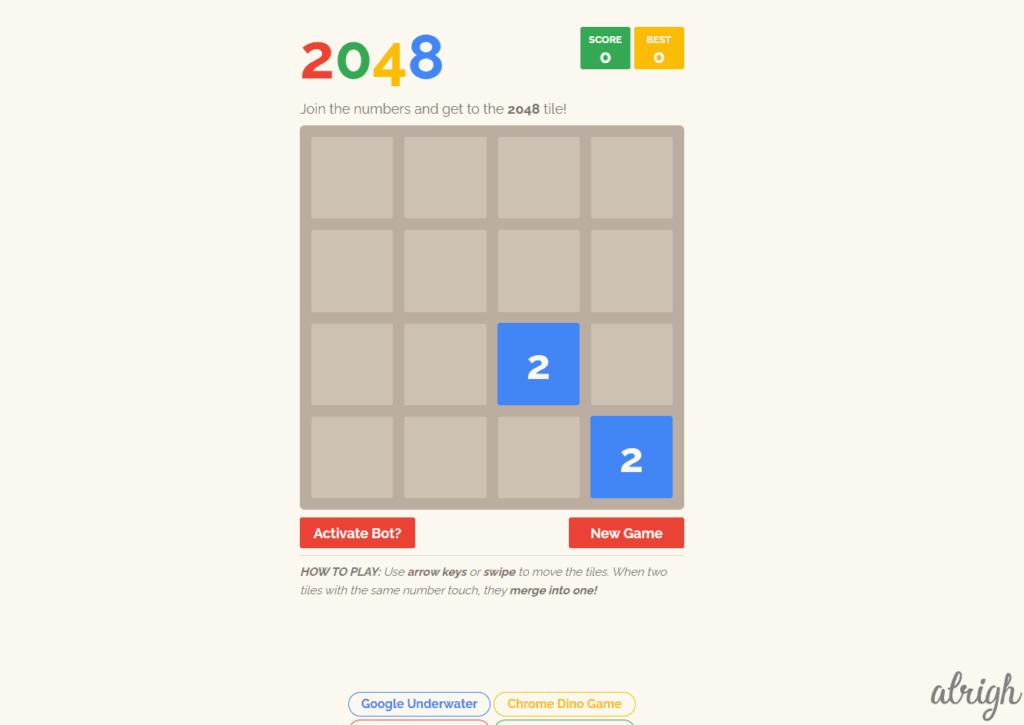 Google 2048 Game
