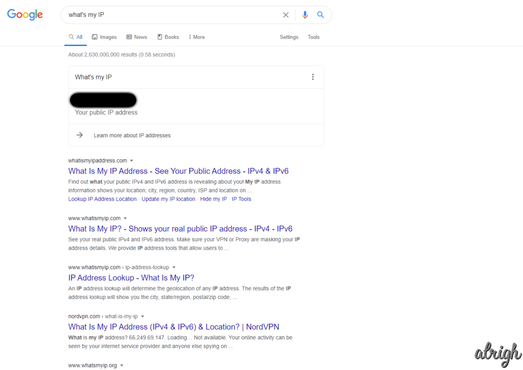 Google Knows your IP
