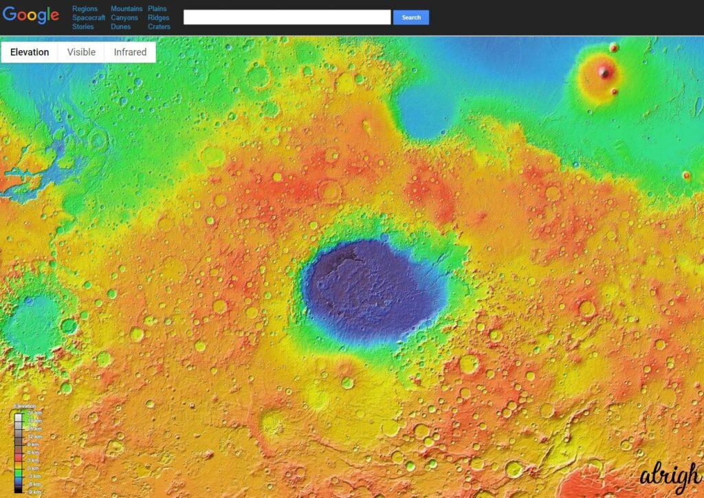 Google Mars Trick