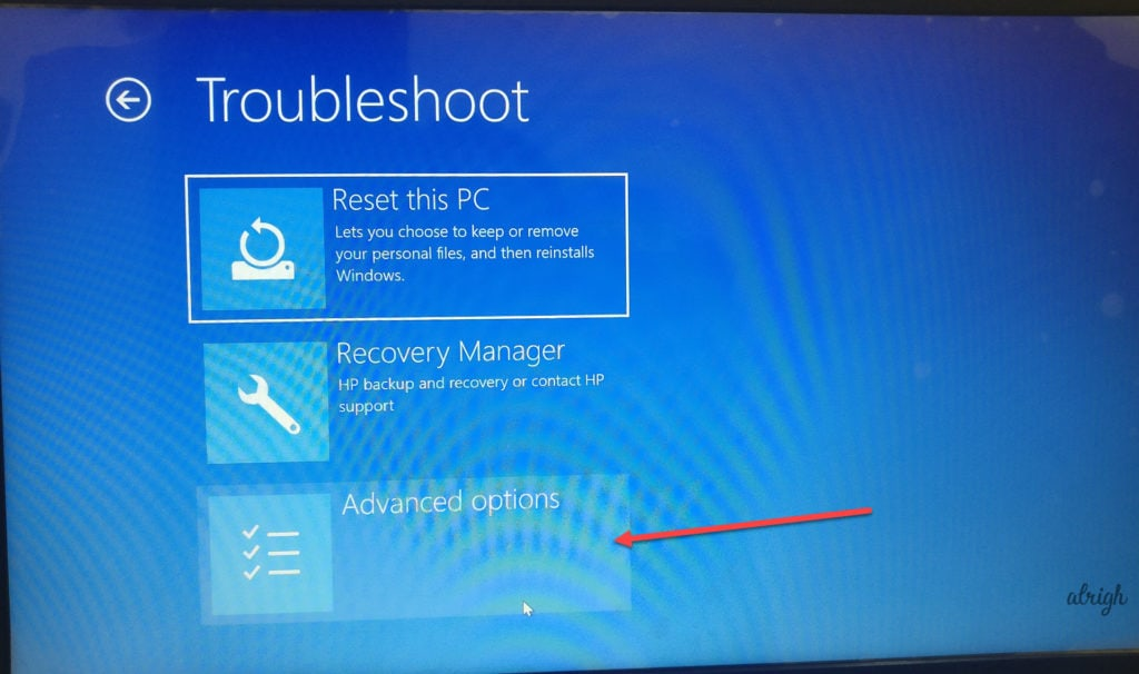 Go to Troubleshoot options, then go to Advanced Options and select UEFI Settings