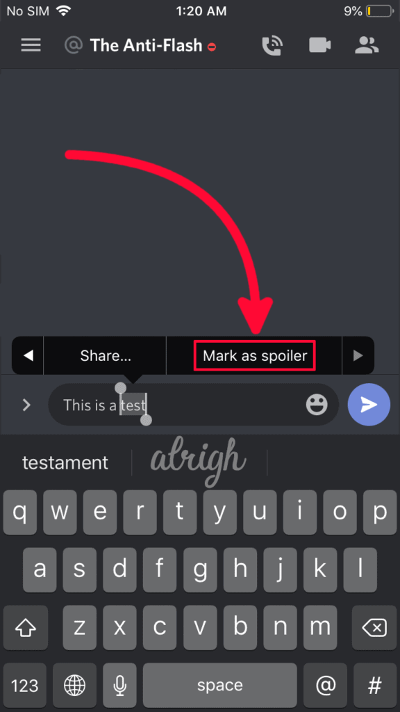 Use Discord Spoiler Tags on iOS 2