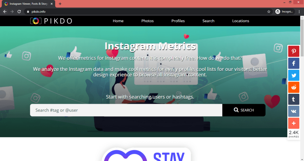Pikdo Instagram Post and Story Viewer