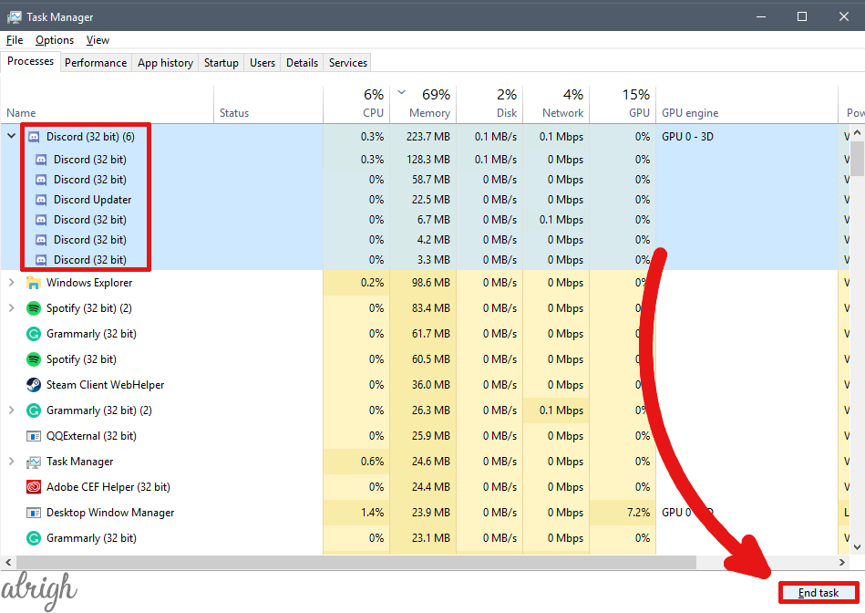 Use Task Manager to Kill Discord 1
