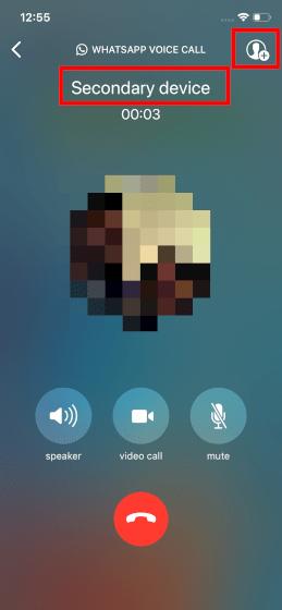 WhatsApp Call Recording on iOS Step 2