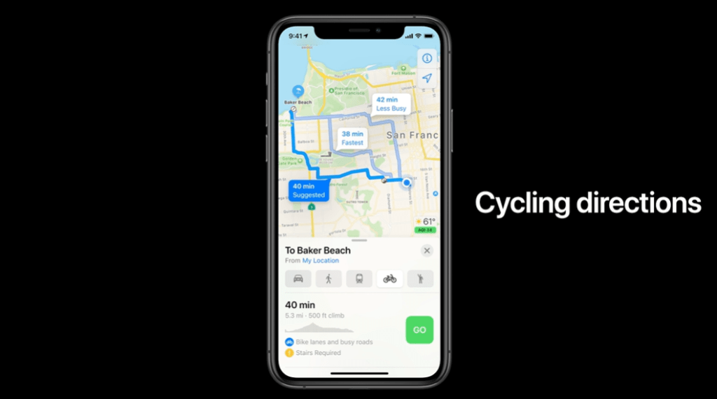 iOS 14 Cycling Support