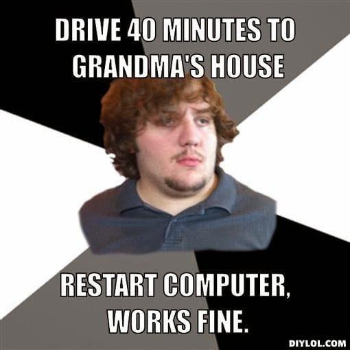 restart computer joke