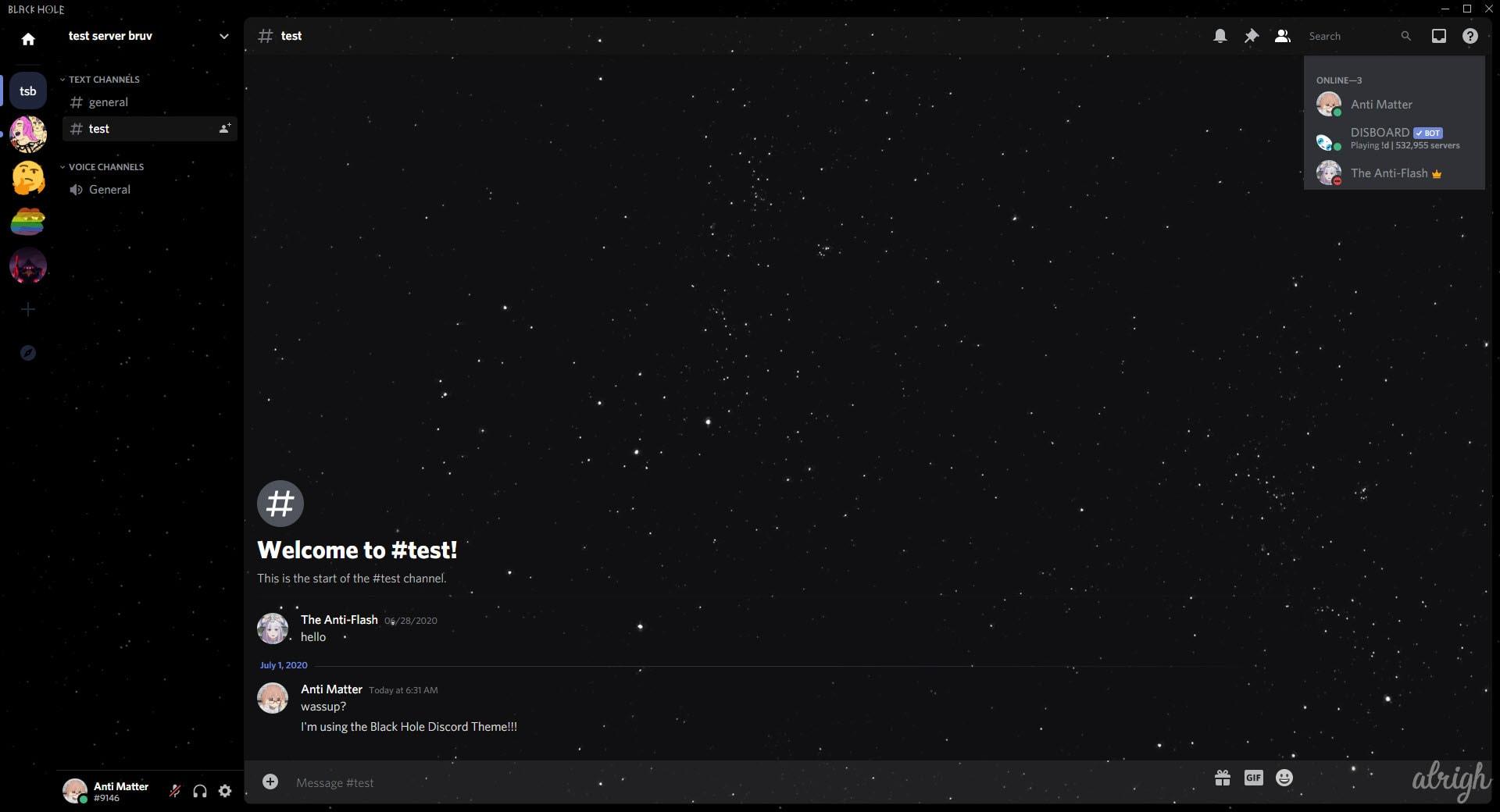Black Hole Discord Theme