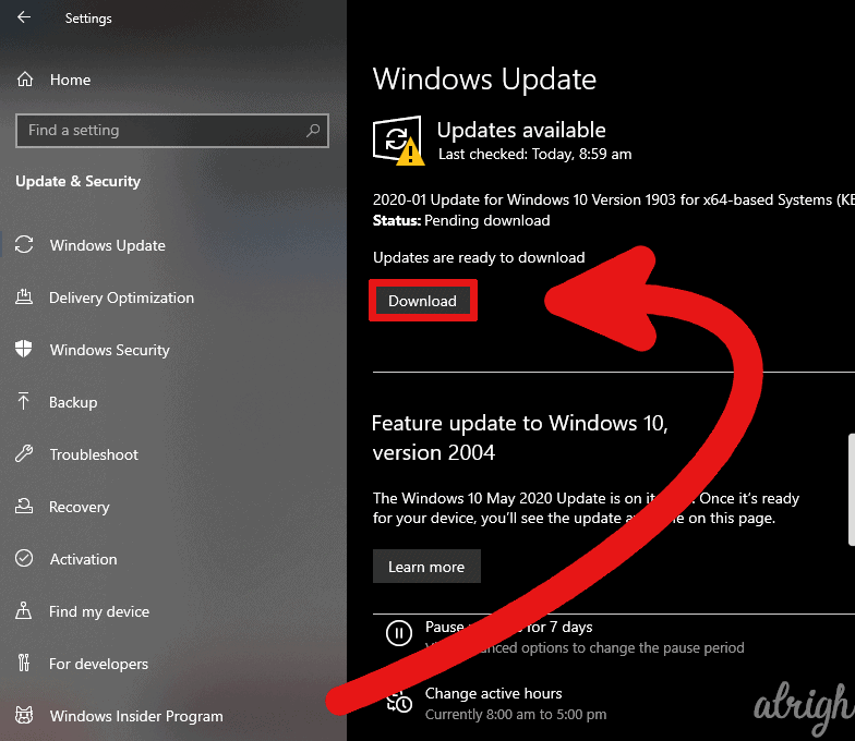 Check Windows 10 for updates 2