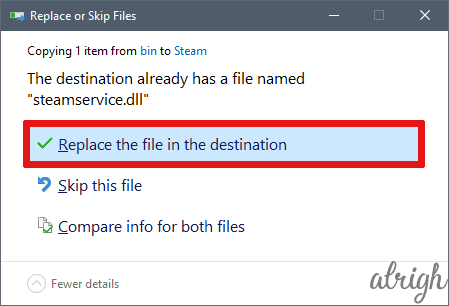 Copy steamservices.dll to common files 3