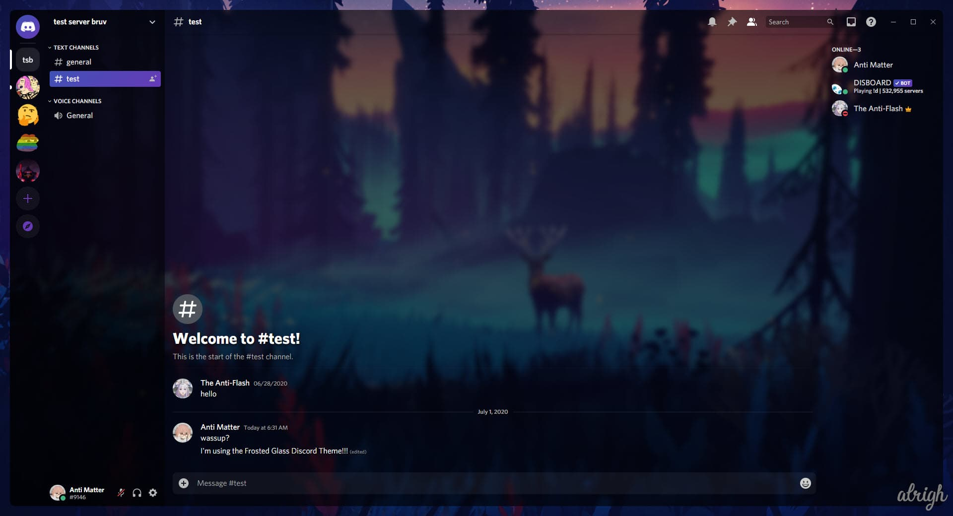 Frosted Glass Discord Theme