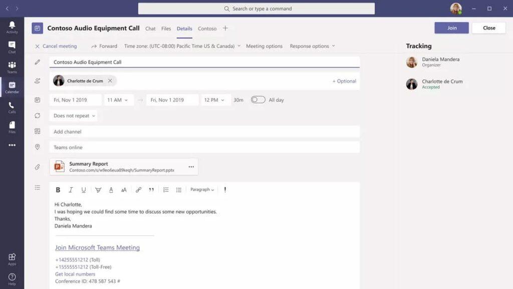 Microsoft Teams Apps in Meeting Details