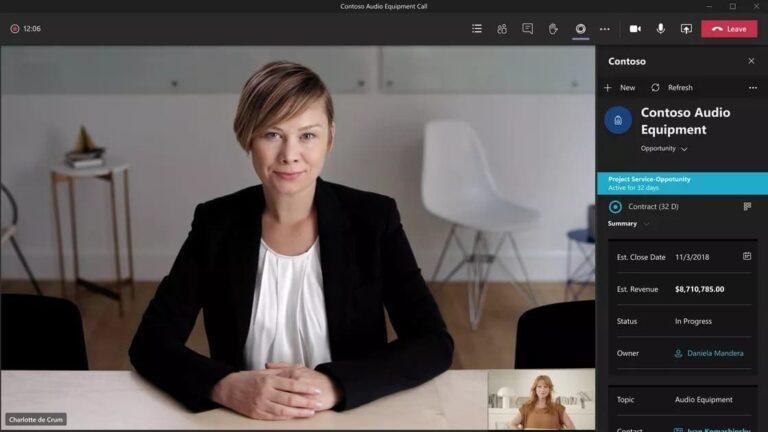 Microsoft Teams Sidebar in action during meeting