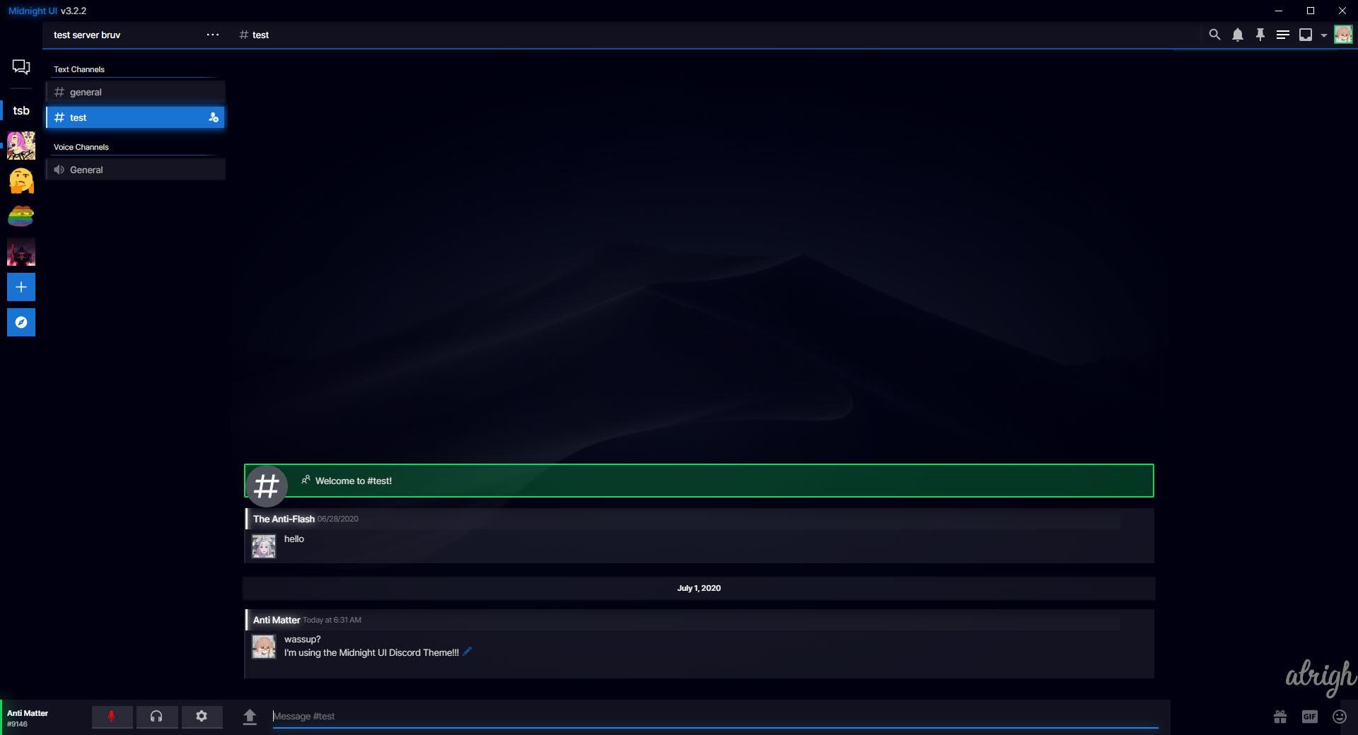 Midnight UI Discord Theme