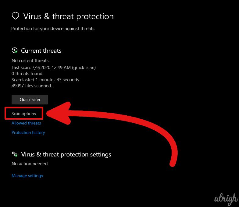 Run a Virus Scan 2