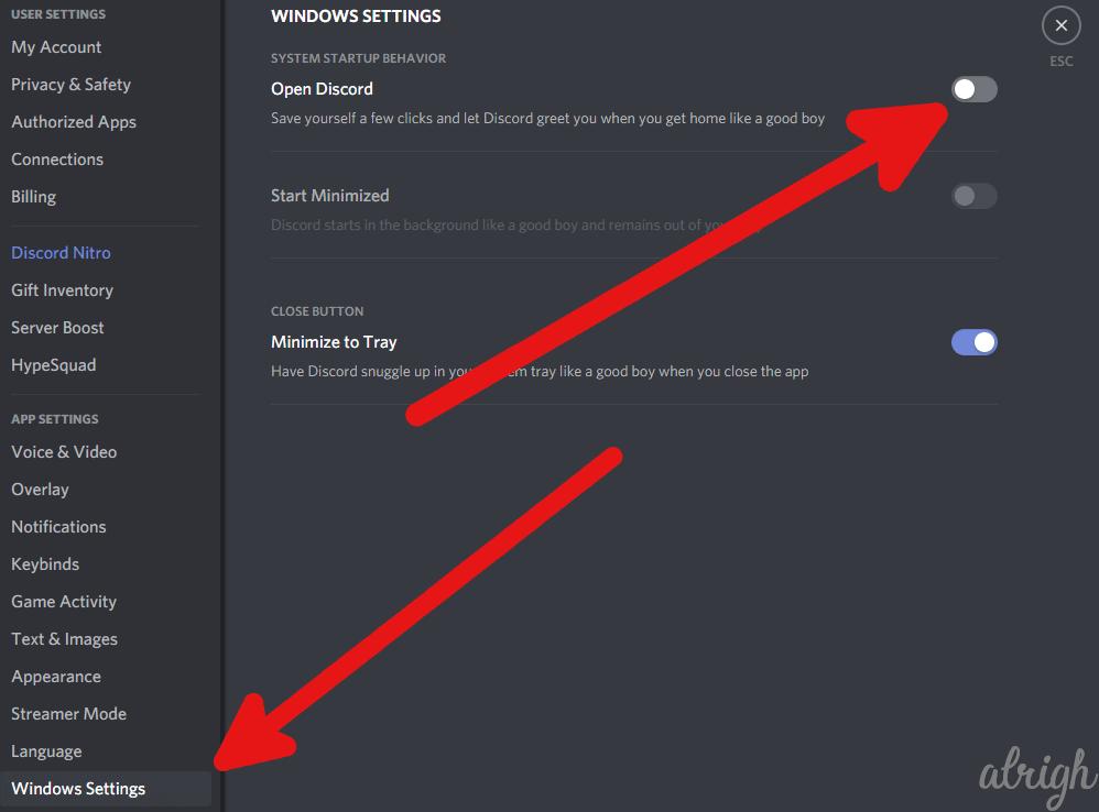 Turn Off Discord on Windows Startup