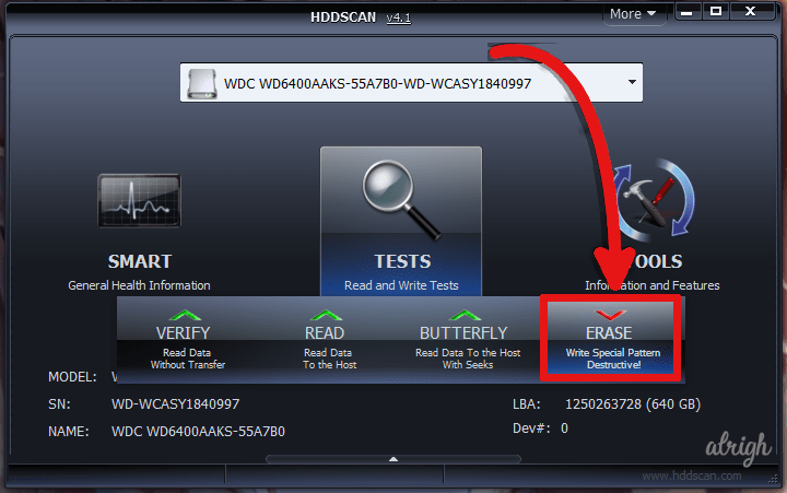 Use HDDScan to Fix CRC Data Error 2