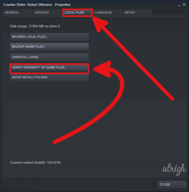 Verify Game Files 2