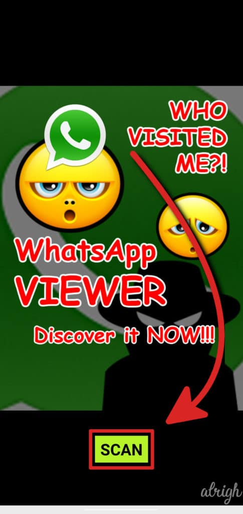 Running the scan for WhatsApp who viewed me