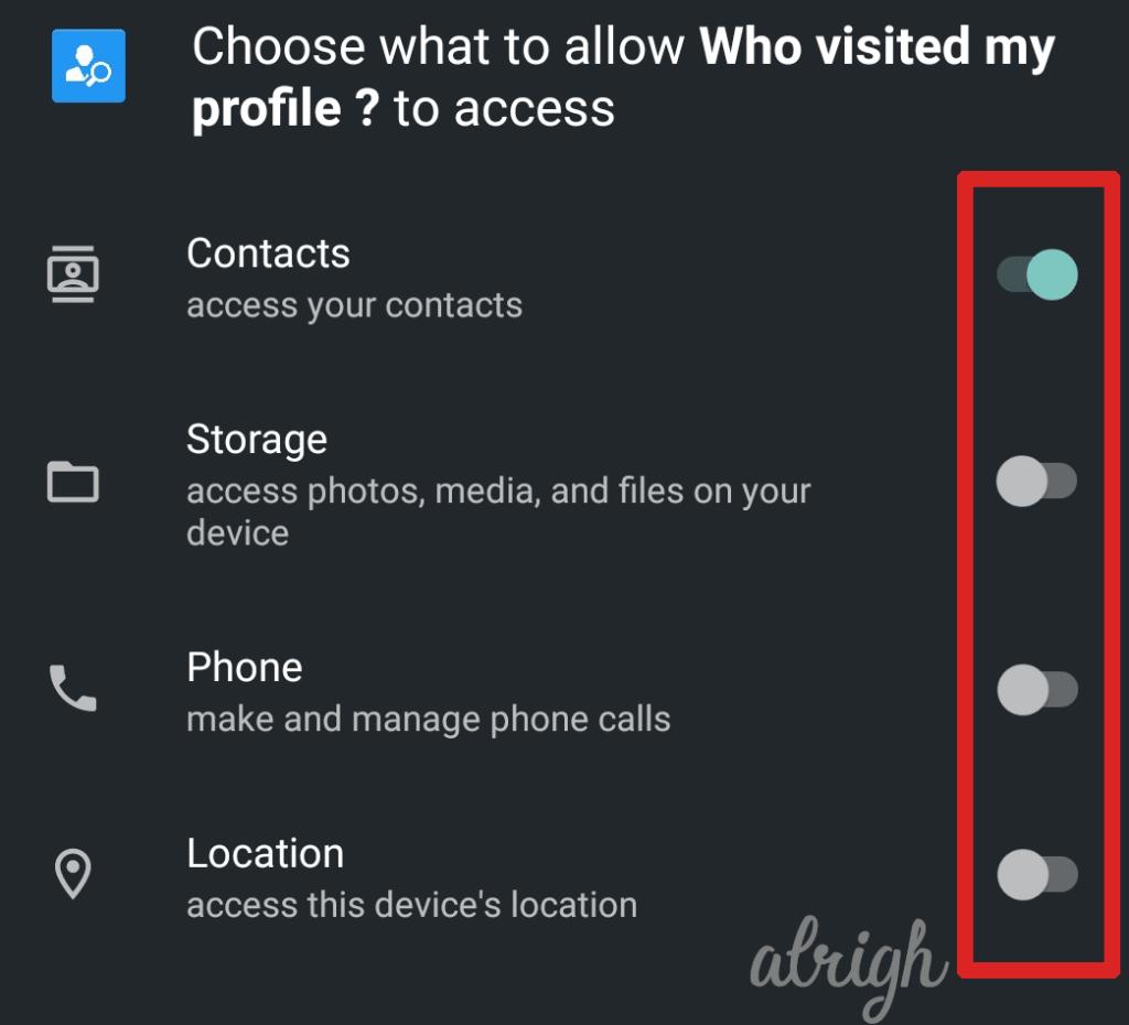 Who Viewed my profile WhatsApp Permissions