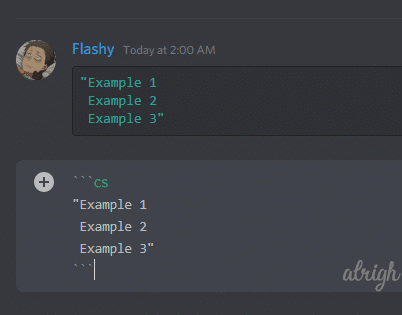 Colorint text cyan with CoffeeScript Syntax on Discord