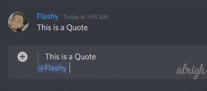 Discord Quote Markdown Formatting