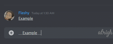 How to underline text with Discord Markdown Formatting