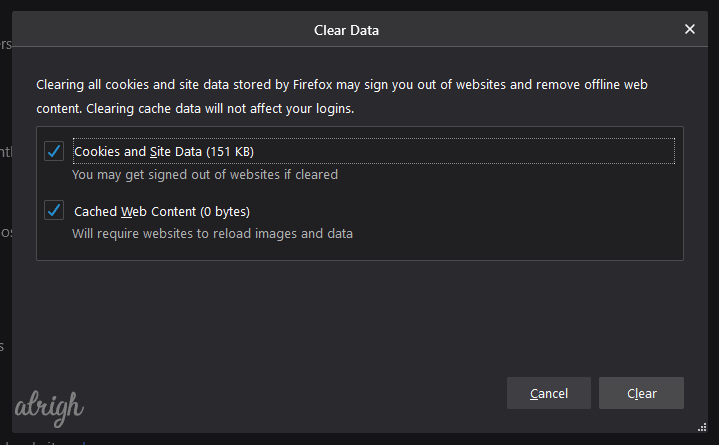 Clear Cookies and Cache Data To Fix Twitch Black Screen 5