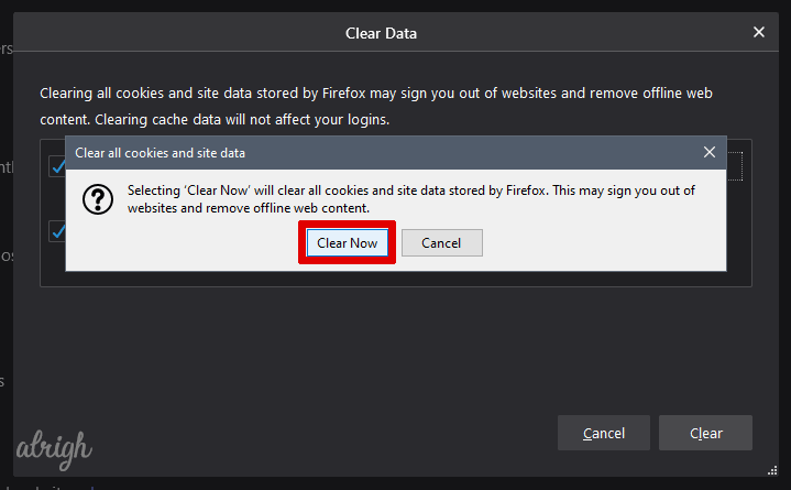 Clear Cookies and Cache Data To Fix Twitch Black Screen 6