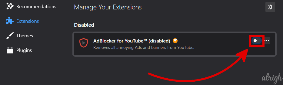Disable All Extensions & Plug-Ins To Fix Twitch Black Screen 4