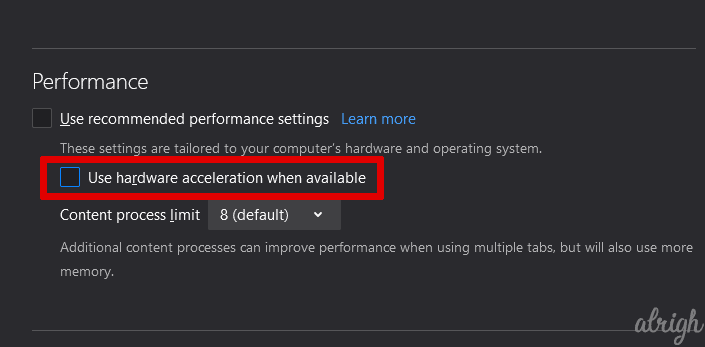 Disable Hardware Acceleration To Fix Twitch Black Screen 5