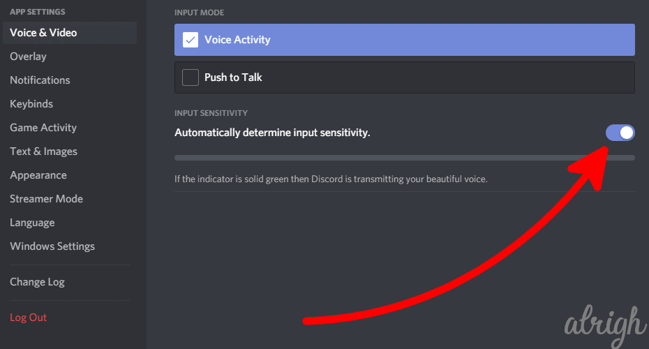 Enable Automatic Audio Input Sensitivity in Discord 2