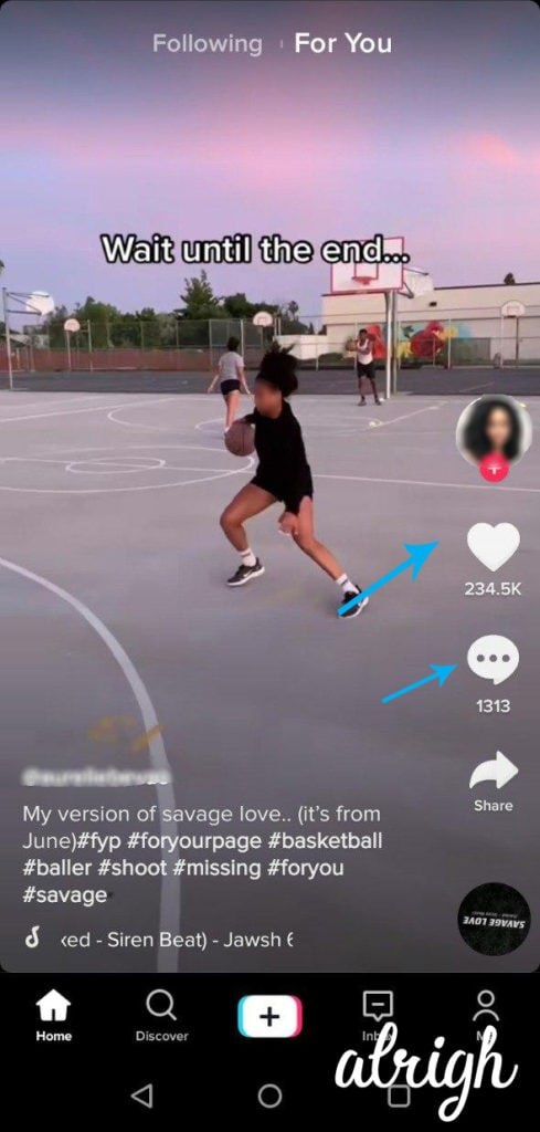 Follow Like and Comment on TikTok