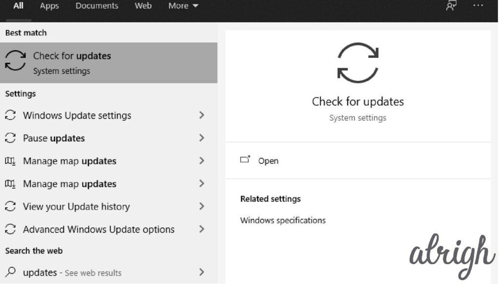 Update Windows 1