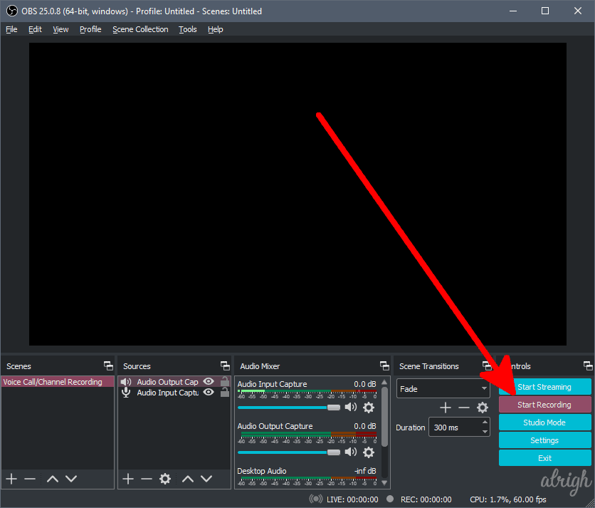 Use OBS To Record Audio On Discord 6